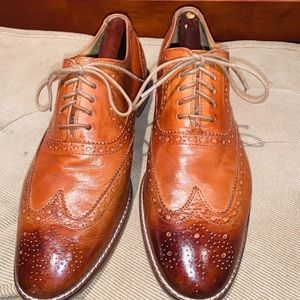 Cole Haan Wing Tip Patina Brogue Leather Oxford
